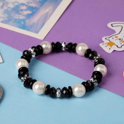 "Bracelet ""Vibracula"" Ondine, color black and white"