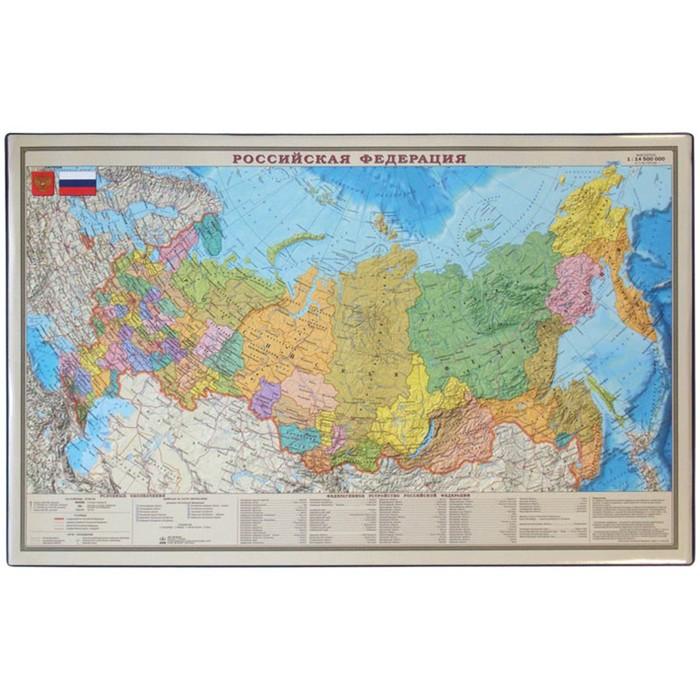 """Подкладка для письма """"Карта РФ"""" 38*59см, микс"""