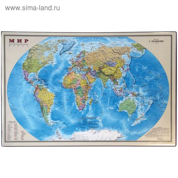 """Подкладка для письма """"Карта мира"""" 38*59см"""