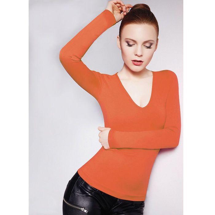 Джемпер женский бесшовный ARTG MAGLIA SCOLLO V MANICA LUNGA (orange, S/M)