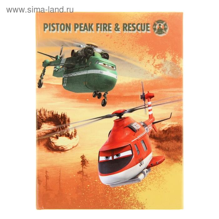 Записная книжка твёрдая обложка А7, 64 листа Disney. Самолеты:огонь и вода-21