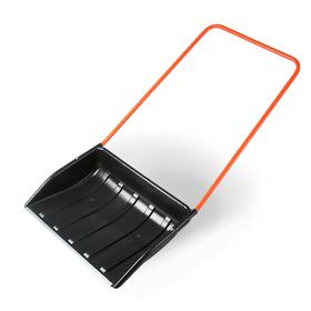 Движок пластиковый, размер ковша 53 × 70 см, металлическая планка, «Барин»