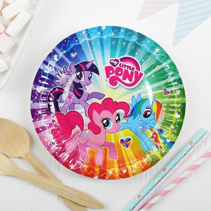 """Набор тарелок """"My Little Pony"""" 18 см, 6 штук"""