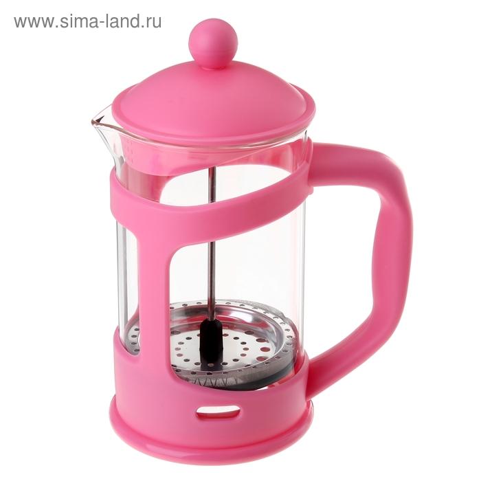 """Френч-пресс 350 мл """"Домашнее тепло"""", розовый"""