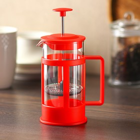 """French press 350 ml of """"Classic"""", color red"""