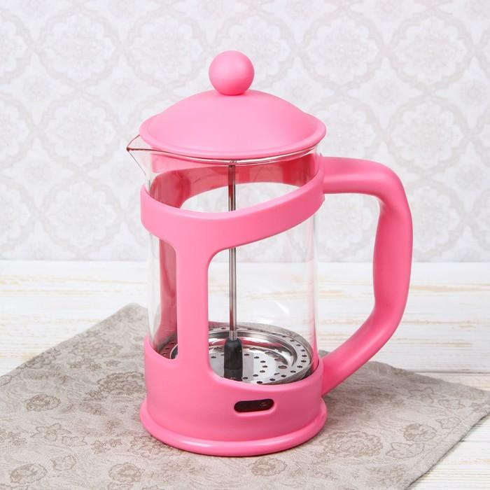 """Френч-пресс 800 мл """"Домашнее тепло"""", цвет розовый"""