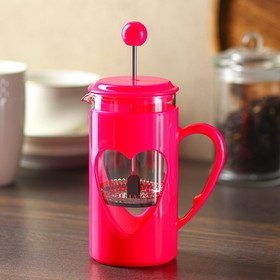 """French press 350 ml """"Compliment"""", color raspberry"""