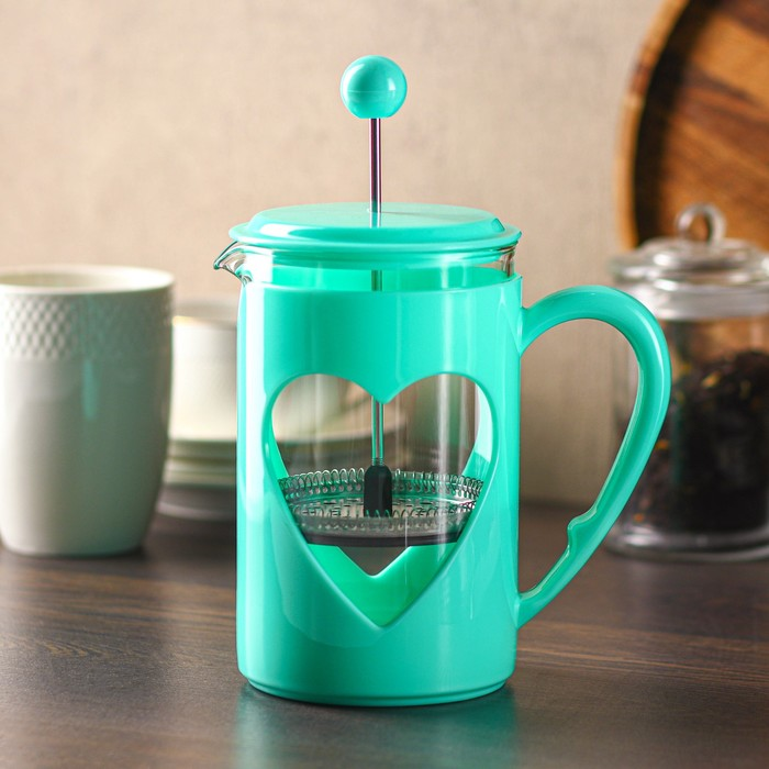 """The plunger 800 ml """"Compliment"""", color turquoise"""