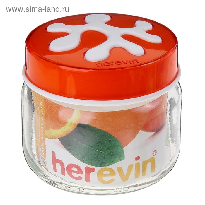 Банка для сыпучих продуктов 400 мл Puzzle, оранжевая