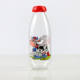 """Емкость для молока 1 л """"Мурка"""", цвета МИКС"""