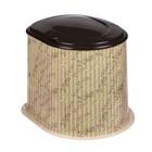 """Туалет дачный, h=39 см, без дна, с креплением к полу, """"Плетёнка"""""""