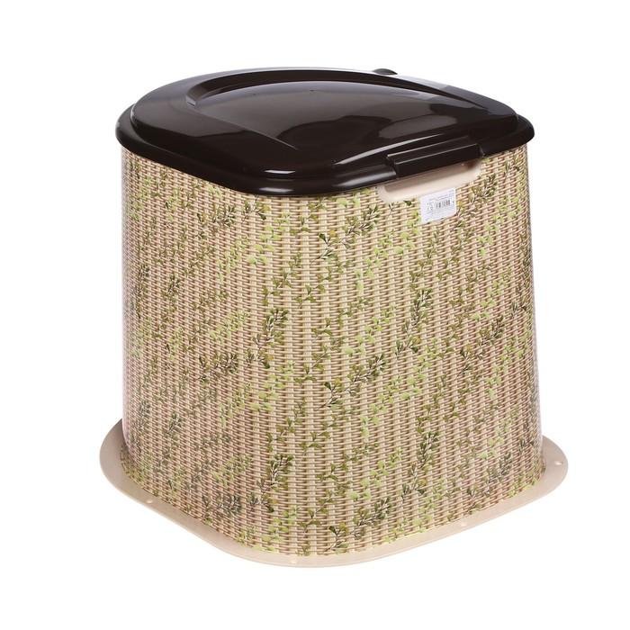 Туалет дачный, h = 39 см, без дна, с креплением к полу, «Плетёнка»