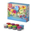 Пластилин на растительной основе набор 8 цветов по 35г Undersea World + осьминог - игрушка, 3 объемных формочки, фигурный нож, насадка-штамп, насадка-валик, насадка-рыбка, насадка-крабик, насадка-пресс