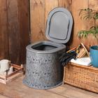 """Туалет дачный, h=39 см, без дна, с креплением к полу, """"Люкс"""""""