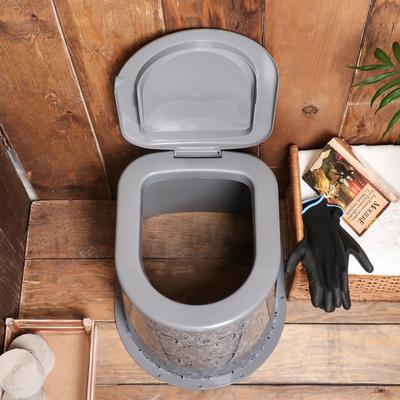 Туалет дачный, h = 39 см, без дна, с креплением к полу, «Люкс»