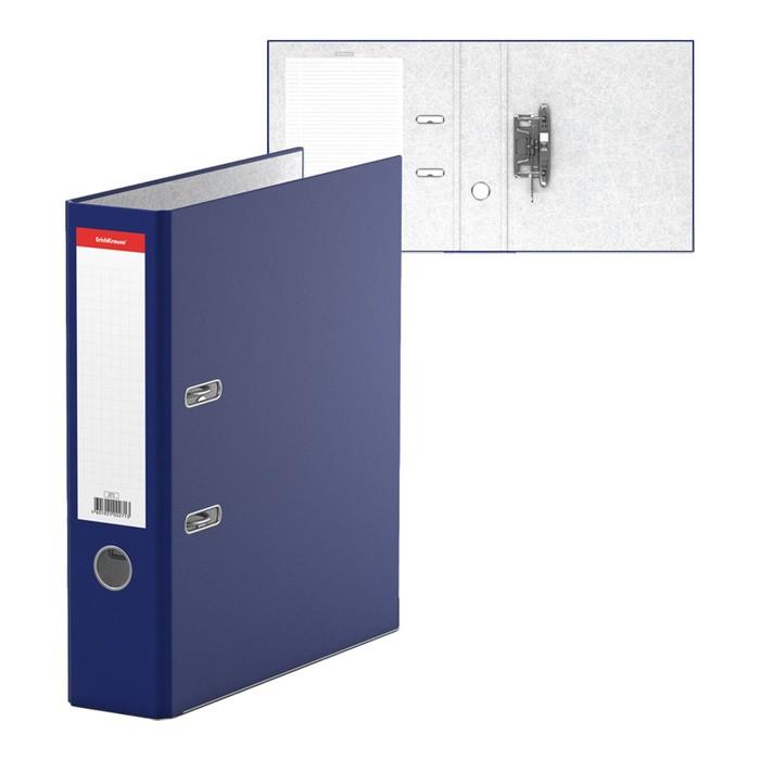 Папка-регистратор А4, 70 мм, «Стандарт», собранный, синий, этикетка на корешке, металлический кант, картон 2 мм, вместимость 450 листов - фото 664581208