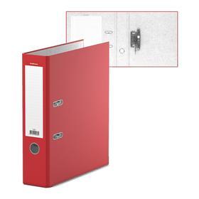 Папка-регистратор А4, 70 мм, «Стандарт», собранная, красная, этикетка на корешке, металлический кант, картон 2 мм, вместимость 450 листов
