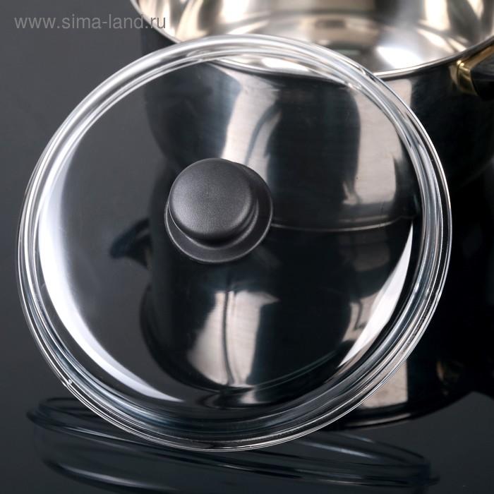 Крышка стеклянная d=24 см, прессованная, высокая