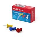 Кнопки силовые цветные 50 штук Erich Krause , в картонной коробке 24877