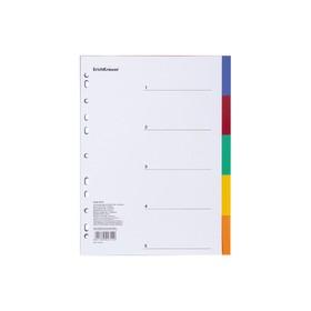 Разделитель листов А4 ErichKrause, 5 листов, пластик, по цветам, 120 мкм
