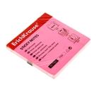 Блок бумаги с липким краем 75х75мм Erich Krause NEON розовый, 80 листов