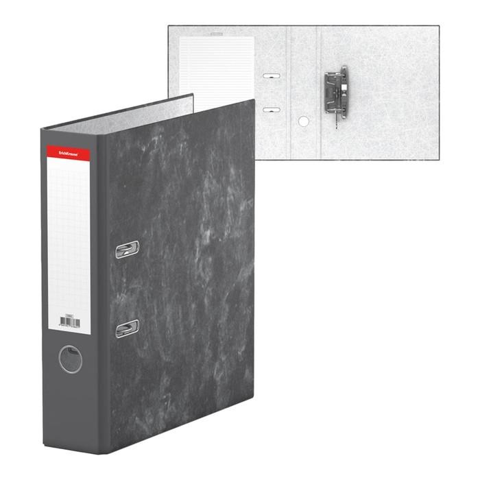 Папка-регистратор А4, 70мм Economy, разборный, мраморный, серый, картон 1.75мм, вместимость 450 листов