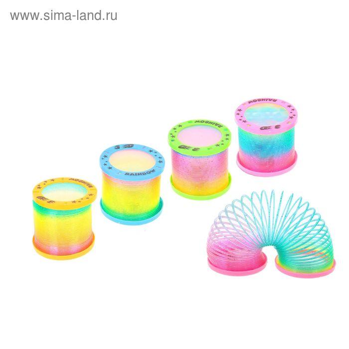 """Пружинка-радуга """"3D Круги"""", с подсветкой, цвета МИКС"""