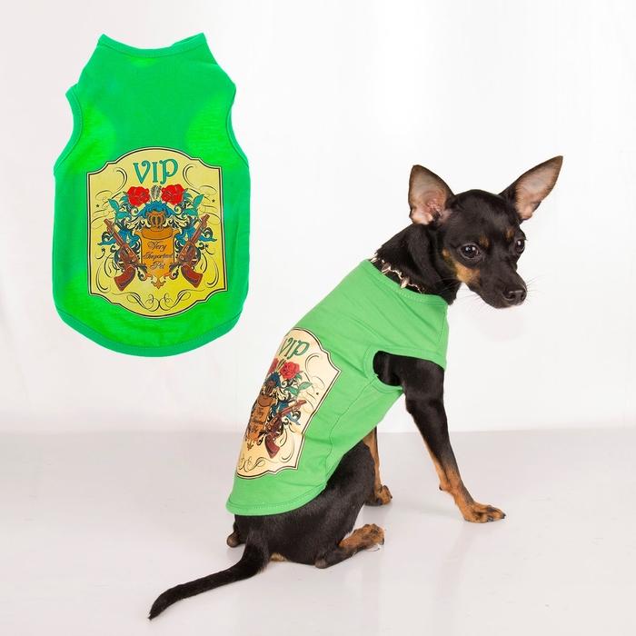 "Майка ""Very Important Pet"", размер S (длина спины 26 см, обхват груди 33 см)"