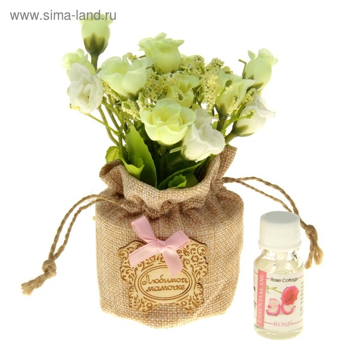 """Декоративный букет с аромамаслом """"Любимой мамочке"""", аромат розы"""