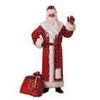 Карнавальный костюм «Дедушка Мороз», плюш, р. 54-56, рост 188 см, цвет красный