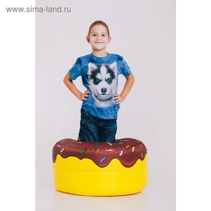 Футболка детская Collorista 3D Husky, возраст 4-6 лет, рост 110-122 см, цвет синий