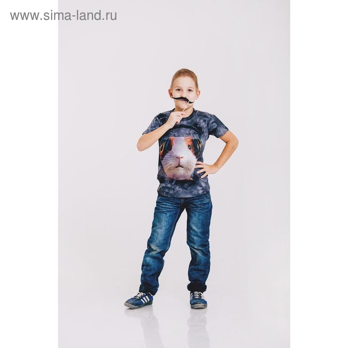 Футболка детская Collorista 3D DJ Humster, возраст 1-2 года, рост 86-92 см, цвет серый