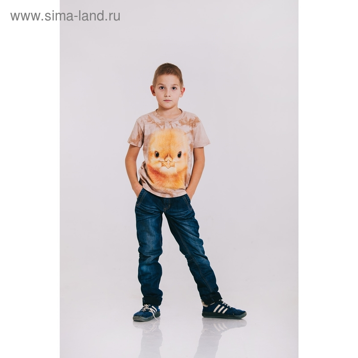 Футболка детская Collorista 3D Duckling, возраст 2-4 года, рост 92-110 см, цвет бежевый