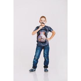 Футболка детская Collorista 3D DJ Humster, возраст 4-6 лет, рост 110-122 см, цвет серый