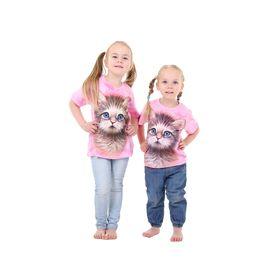 Футболка детская Collorista 3D Kitten, возраст 6-8 лет, рост 122-134 см, цвет розовый