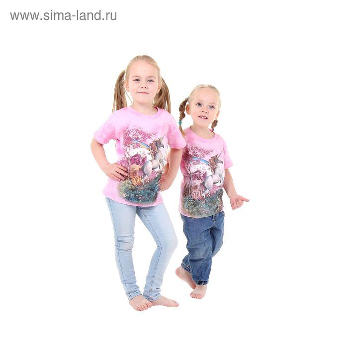 Футболка детская Collorista 3D Rainbow unicorn, возраст 6-8 лет, рост 122-134 см, цвет розовый