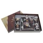 """Подарочный набор 6 в 1 """"Треугольники"""": фляжка 540 мл + воронка, 4 рюмки × 90 мл"""