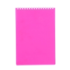 Блокнот в пластиковой обложке А5, 80 листов на гребне DIAMOND НЕОН-розовый