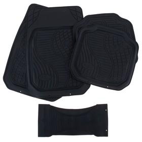 Набор резиновых ковров в салон автомобиля 5 шт, 70х50 см, 50х49 см, чёрный