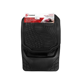 A set of rubber carpets in the vehicle interior 5 PCs, 70x50 cm, 50x49 cm, black.