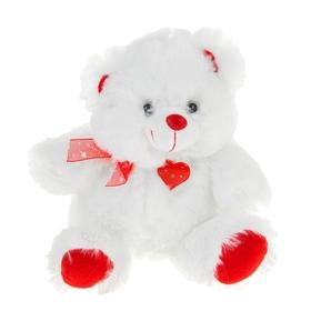 Мягкая игрушка музыкальная 'Мишка' белый сердце стучит Ош