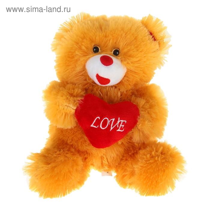 """Мягкая игрушка """"Мишка коричневый"""" с сердцем"""