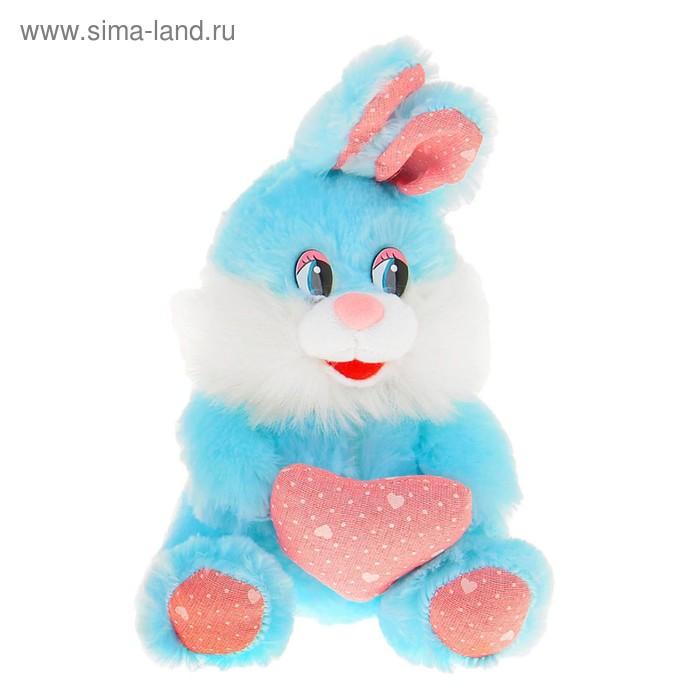"""Мягкая игрушка """"Зайка с сердцем"""", цвета МИКС"""