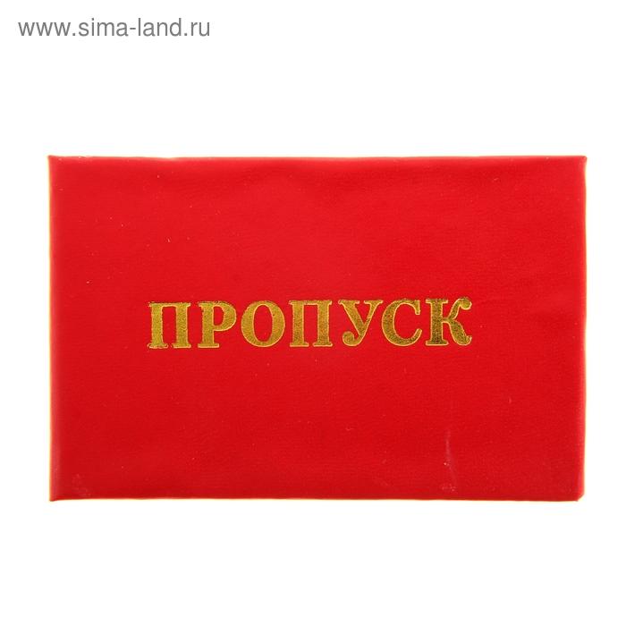 """Бланк """"Пропуск"""", красный"""