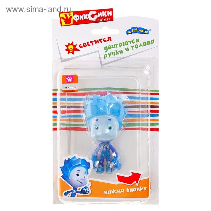 """Резиновая игрушка """"Нолик"""" со светом, двигаются ручки и голова"""