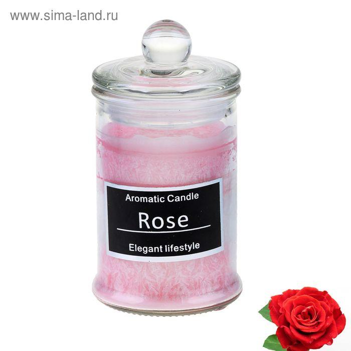 "Свеча восковая ""Баночка"", аромат роза"