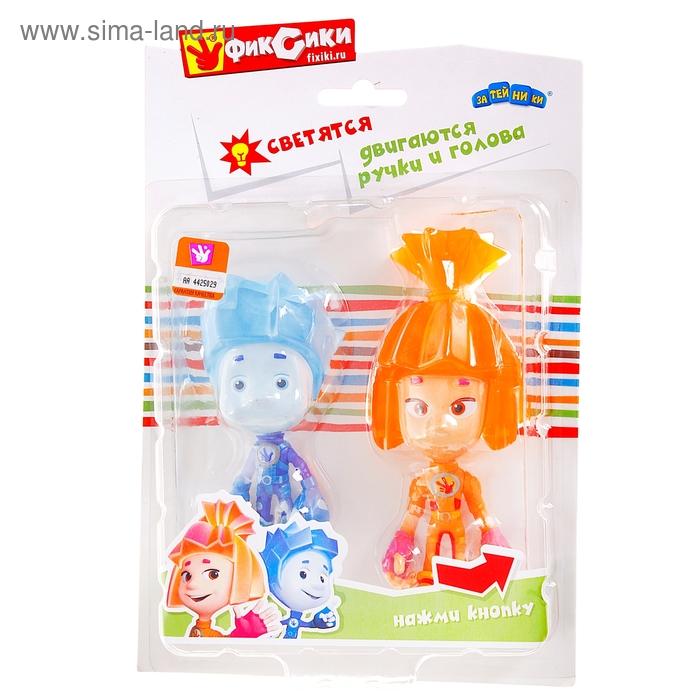 """Набор резиновых игрушек """"Симка и Нолик"""" со светом, двигаются ручки и голова"""