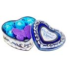 """Набор мыльных лепестков в шкатулке-сердце """"От всей души"""": 5 бутонов, мыло-бабочка, серпантин"""
