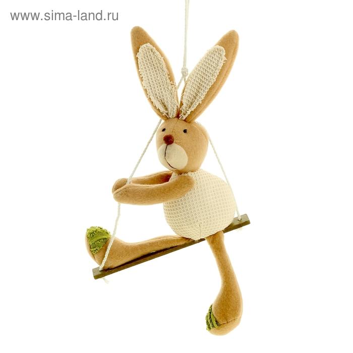 """Декор подвесной """"Зайчишка на качельке"""""""