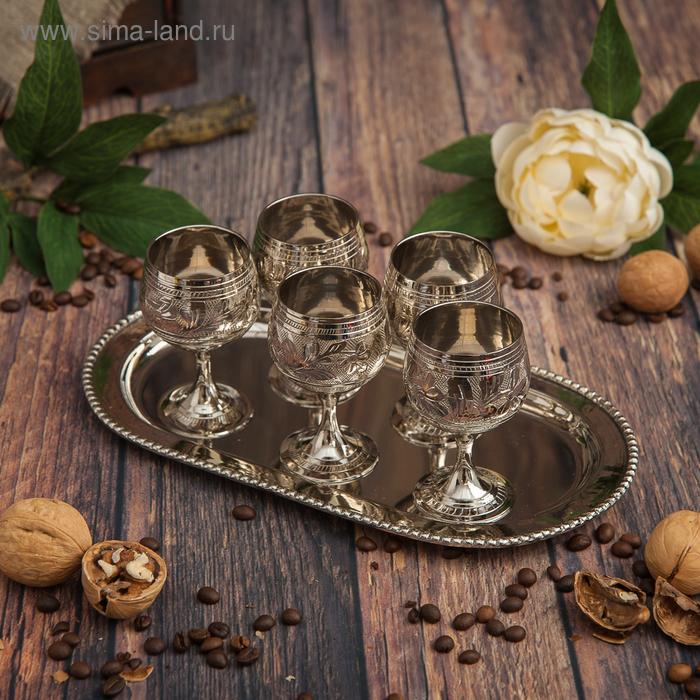 Набор рюмок для ликера Douce: 6 бокалов, поднос